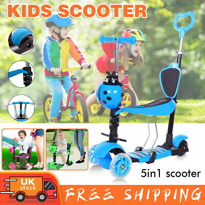 £16.99 • Buy Kids Scooter 5-in-1 Adjust Seat Toddler Kick Scooter Flashing Wheels Child Toys