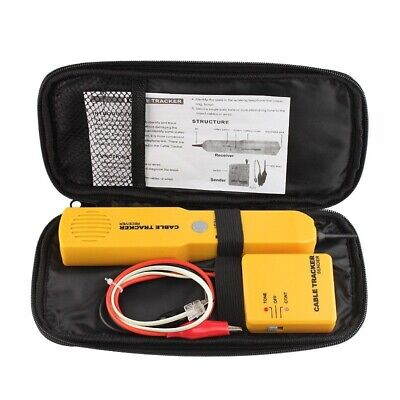 Cable Finder Tone Generator Probe Tracker Wire Network Tester Tracer Kit • 16.33£