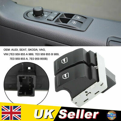 £4.59 • Buy Electric Driver Side Window Double Switch For VW Transporter T5 Van Caravelle UK