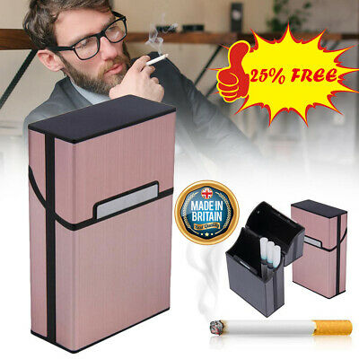 Metal Cigarette Case Aluminum Tobacco Holder Storage Container Pocket Box -UK • 4.19£