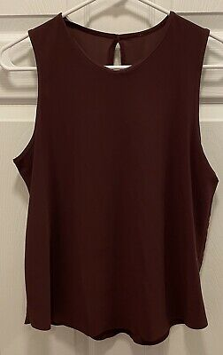 $ CDN30 • Buy Lululemon Womens Burgandy Workout Tank Top - Size 4