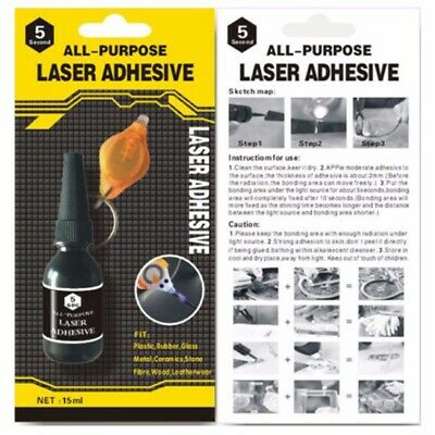 AU7.59 • Buy All Purpose Laser 5 Second Rapid Fix Adhesive UV Light Repair Cure Tool Glue E