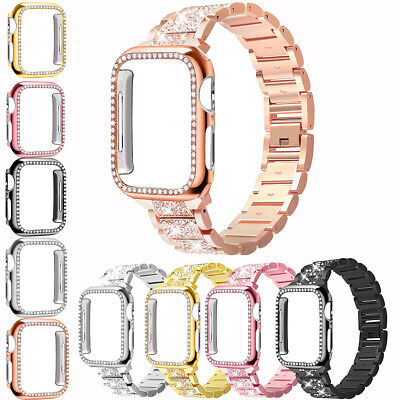 $ CDN17.98 • Buy For Apple Watch Series 6/5/4/3/2/1/ Diamond Bracelet Band Strap With Bling Case