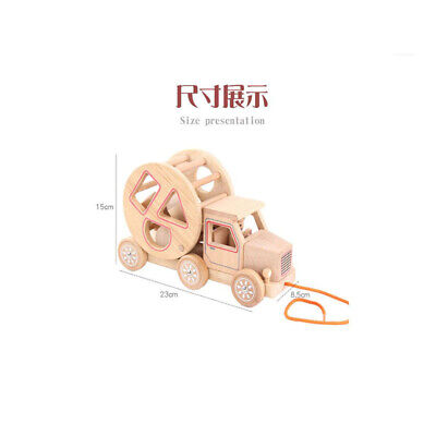 $ CDN21.33 • Buy Classic Wood Car Carrier Toys Double Decker Tractor Trailer Truck For Kids SG
