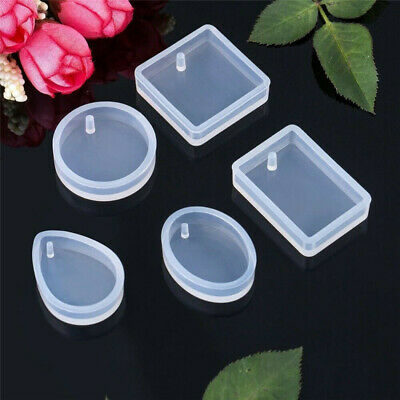 £5.08 • Buy 20PCS Resin Mold DIY Keychain Pendant Casting Silicone Mould Kit With Keyrings