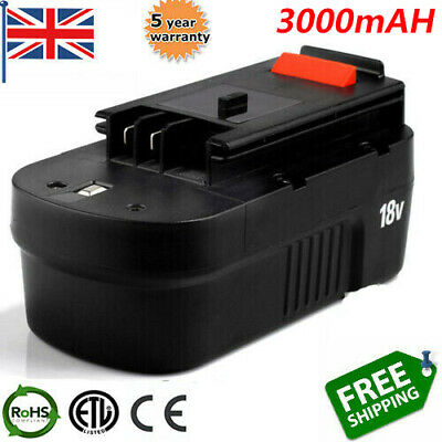 £18.99 • Buy 3.0Ah Replace Ni-MH Battery For Black& DeckerHPB18 A1718  A18 244760-00  A1718
