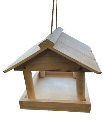 £10.95 • Buy Large Hanging Natural Wood Bird House Free Standing Feeding Garden Table 9003
