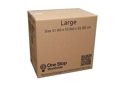 £24 • Buy Cardboard Boxes Large Double Walled - 94 Litres - 51x53x35cm - 10 Pack