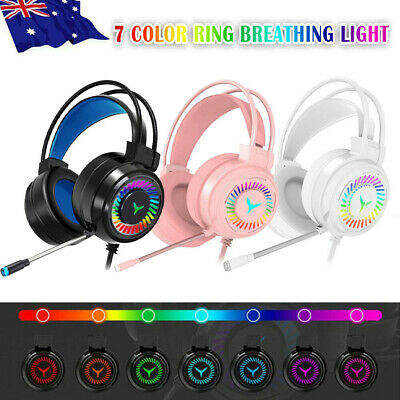 AU24.66 • Buy M10 Gaming Headset RGB LED Wired Headphones Stereo With Mic For One/PS4 PC Xbox