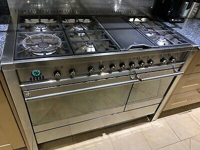 £1395.95 • Buy Smeg Opera A3 Dual Fuel Range Cooker Stove 120cm Stainless Steel Gas Electric