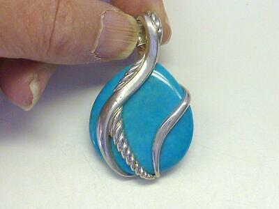 $ CDN60.49 • Buy Large WHITNEY KELLY WK Sterling Silver Turquoise Pendant Enhancer Necklace China
