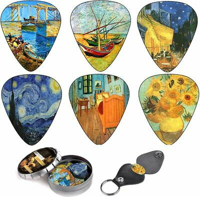 $ CDN29.98 • Buy Van Gogh Celluloid Medium Guitar Picks 12 Pcs