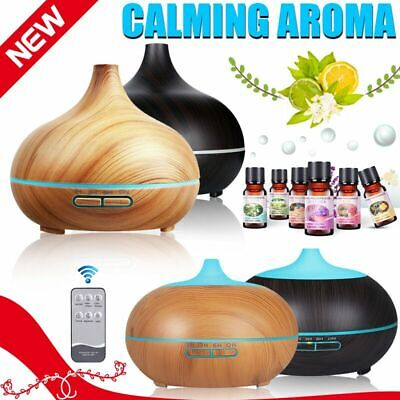 AU18.54 • Buy Diffuser Aroma Aromatherapy Essential Oil LED Humidifier Air Purifier 550/500ml