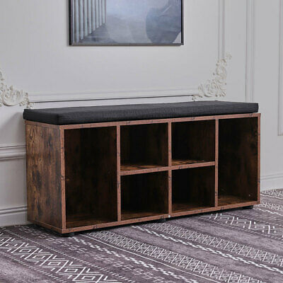 £65.95 • Buy Shoe Bench Cabinet Storage Compartment Shelf Footwear Boots Rack Seat Cushion