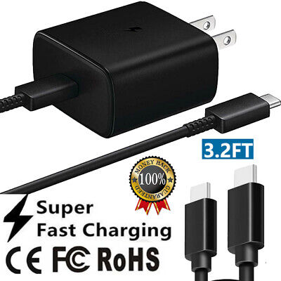 AU16.23 • Buy For Samsung 45W Super Fast Charger Plug & USB-C Cable For Galaxy S21 S21+ 5G