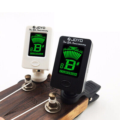 $ CDN5 • Buy Electric Guitar Tuner Pedal Clip Chromatic Digital Rotatable LCD Screen Tun Bk