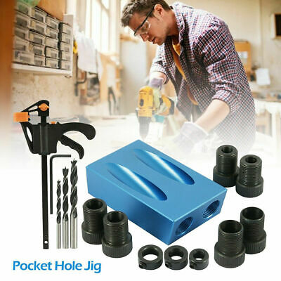 £8.09 • Buy 15pcs Pocket Hole Jig Kit Woodworking 15° Guide Oblique Drill Angle Hole Locator
