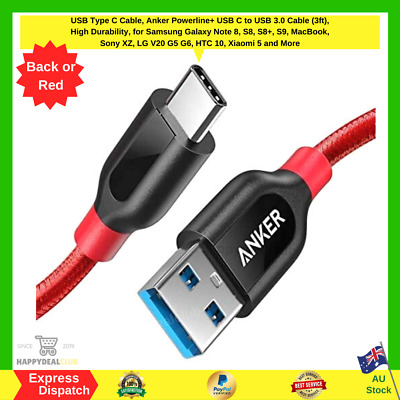 AU25.99 • Buy USB Type C Cable, Anker Powerline+ USB C To USB 3.0 Cable (3ft), High Durability