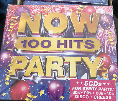 £5.72 • Buy NOW 100 HITS PARTY (Various Artists) 5 CD Set (2019) (New & Sealed) Free Post