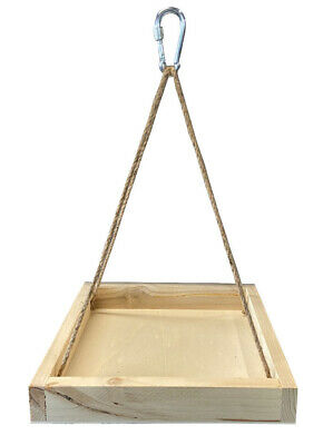 £8.95 • Buy Wooden,Tree Hanging Wild Garden & Rare Bird Seed Nut Feeding Table Station 9015