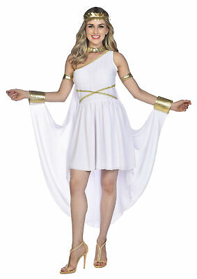 £26.97 • Buy Adult Ladies Olympic Greek Goddess Roman Toga Fancy Dress Costume Outfit New