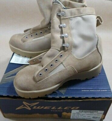 $37.99 • Buy New Military Surplus Wellco Temperate Weather Army Comat Boots Men's Size 6.5w