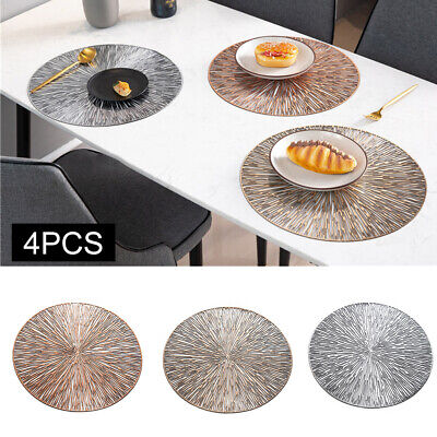 AU11.44 • Buy HOT Placemats Washable Dining Wedding Birthday Charger Kitchen Table Place Mat.