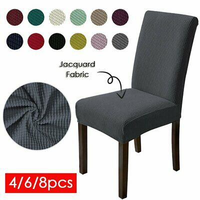 AU16.99 • Buy 4x Stretch Dining Chair Seat Covers Spandex Lycra Washable Banquet Wedding Party
