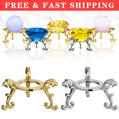£5.98 • Buy Home Decor Crystal Ball Base Sphere Stone Support Display Stand Metal Holder UK