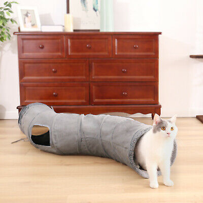 AU28.99 • Buy Cat Tunnel Collapsible Funny Kitten Rabbit  Hamster Animals Play Tunnel Tube Toy