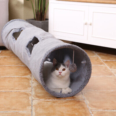 AU29.99 • Buy PAWZ Road Cat Tunnel Pet Toys Play Hide Tube With Ball For Large Cat Dogs Rabbit