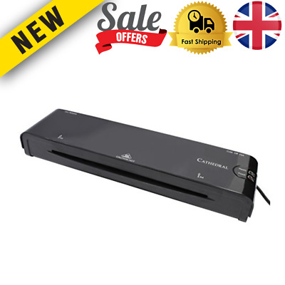 £18.31 • Buy A4 Laminating Machine In Black Hot Or Cold Laminater Fast Warm-up Office Home