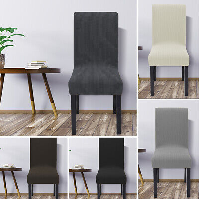 AU16.99 • Buy 4PCS Dining Chair Covers Spandex Cover Stretch Jacquard Washable Wedding Banquet