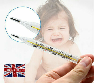 Adult Kids Thermometer Scale Temperature Glass Clinical Accuracy MERCURY FREE • 3.90£