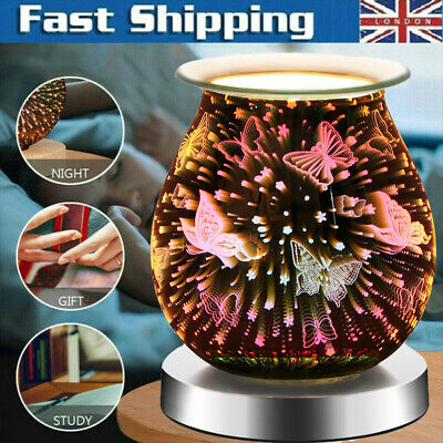 £13.59 • Buy 3D Glass Touch Electric Wax Warmer Aroma Butterfly Lamp Oil Burner Diffuser Gift