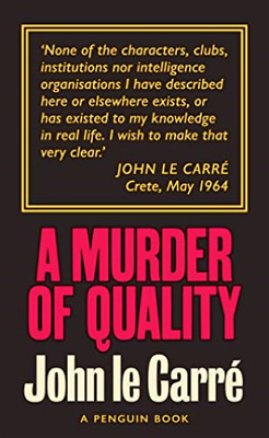 £8.23 • Buy A Murder Of Quality BOOK NEW