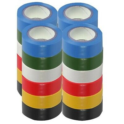 £4.99 • Buy PVC Electrical Insulating Tape Flame Retardent Coloured Insulation Tapes 19mm