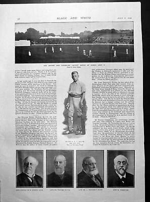 Old Print Oxford Cambridge Cricket Match Flying Fox Eagar Stallions 1899 19th • 23£