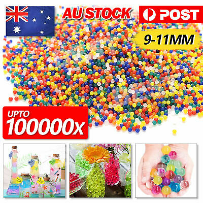 AU17.99 • Buy Up To 50000PCS Crystal Water Balls Jelly Gel Beads For Vases Orbeez MultiColor