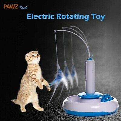 AU21.99 • Buy Cat Toy Kitten Electric Rotating Feather Teaser Automatic Interactive Funny Toys