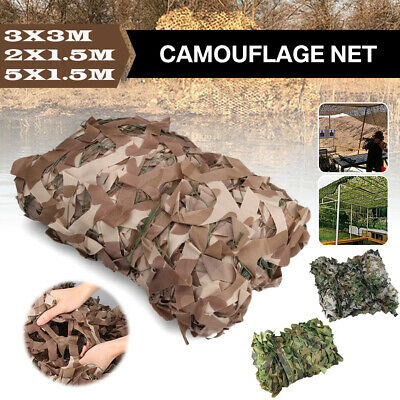 Camouflage Netting Camo Net UK Hunting Shooting Camping Army Green Hide Cover UK • 10.69£