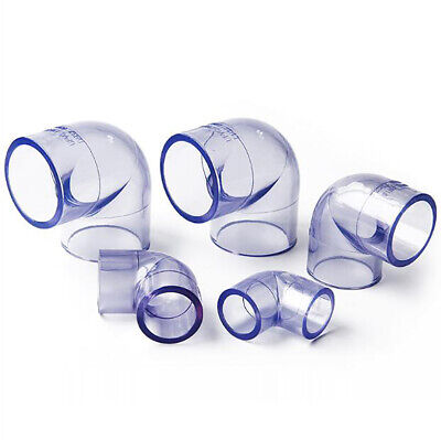 £2.19 • Buy Clear PVC 90°Elbow Connectors Socket (I.D 20-110mm) Water Supply Pipe Coupling