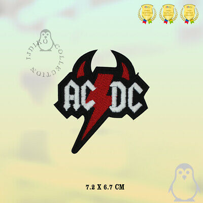 £1.89 • Buy ACDC Horns Music Band Logo Patch Embroidered Iron On Sew On Patch Badge