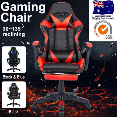 AU95.98 • Buy Gaming Chair Office Computer Chair Executive Chairs Seating Footrest Recliner Oz