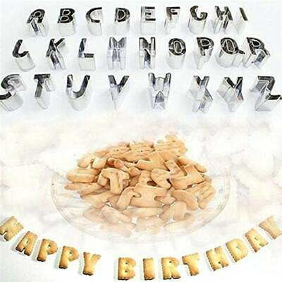 £6.46 • Buy Alphabet Letters Number Stainless Steel Cutters Sugarcraft Decor Icing Mould SG