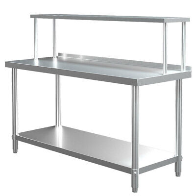 £229.95 • Buy Commercial Stainless Steel Table Kitchen Catering Work Bench Top W/Storage Shelf