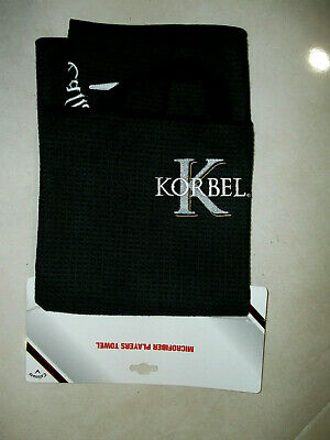£35.40 • Buy NEW Callaway BLACK MICROFIBER Players GOLF Towel  Korbel Celebrity Spray Off