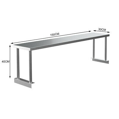£85.95 • Buy 5FT Stainless Steel Catering Table Top Storage Shelf Kitchen Work Bench Top Rack