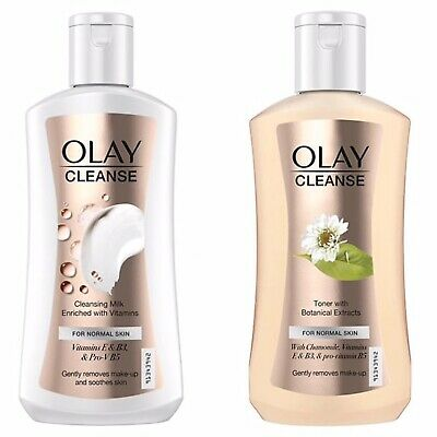AU29 • Buy 2 NEW OLAY Cleanse 200ml Toner & Cleansing Milk For Normal Skin UK X2