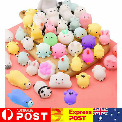 AU7.99 • Buy 10/50PCS Cute Animal Squishies Kawaii Mochi Squeeze Toy Stretch Stress Squishy